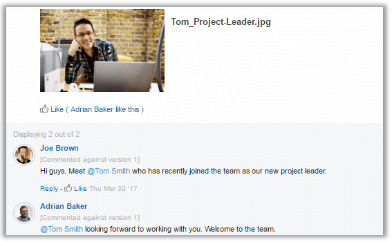 Contextual communication for company intranet | Glasscubes